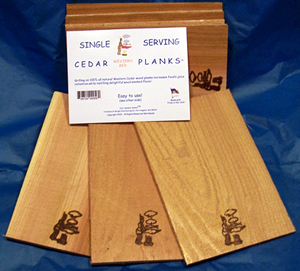 Single serving Cedar planks